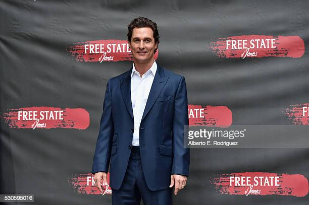 Actor Matthew McConaughey attends the photo call for STX Entertainment's 'Free State Of Jones' at Four Seasons Hotel Los Angeles at Beverly Hills on...