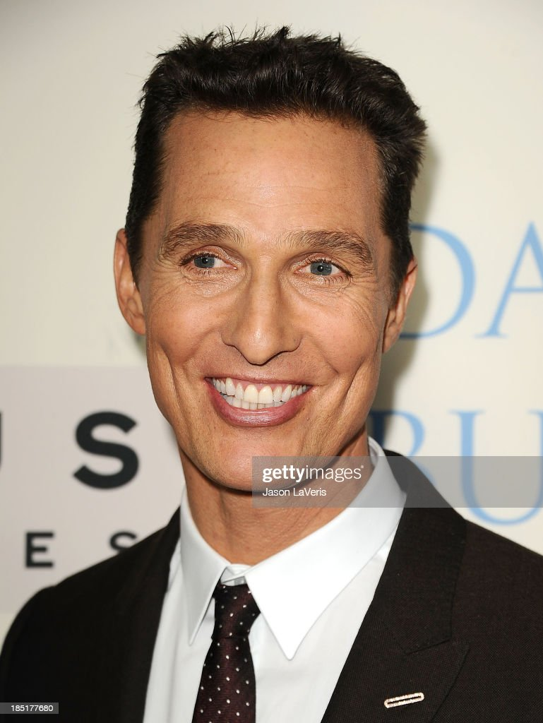 Actor Matthew McConaughey attends the premiere of 'Dallas Buyers Club' at the Academy of Motion Picture Arts and Sciences on October 17, 2013 in Beverly Hills, California.