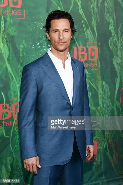 Actor Matthew McConaughey attends the premiere of Focus Features' 'Kubo And The Two Strings' at AMC Universal City Walk on August 14 2016 in...