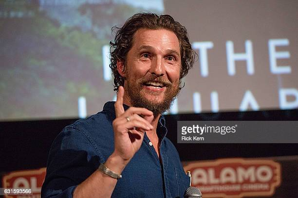 Actor Matthew McConaughey introduces a special screening of 'Gold' at the Alamo Drafthouse on January 12 2017 in Austin Texas