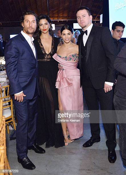 Actor Matthew McConaughey model Camila Alves and actors Jenna Dewan and Channing Tatum attend the Fifth Annual Baby2Baby Gala Presented By John Paul...