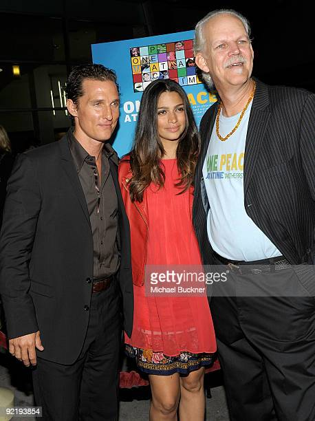 Actor Matthew McConaughey model Camila Alves and director Turk Pipkin arrive at The Nobelity Project's One Peace At A Time screening at the ArcLight...