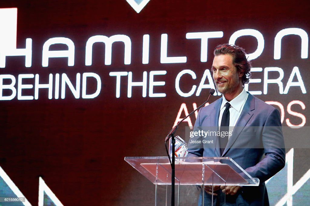 Actor Matthew McConaughey speaks onstage during the Hamilton Behind The Camera Awards presented by Los Angeles Confidential Magazine at Exchange LA on November 6, 2016 in Los Angeles, California. at Exchange LA on November 6, 2016 in Los Angeles, California.