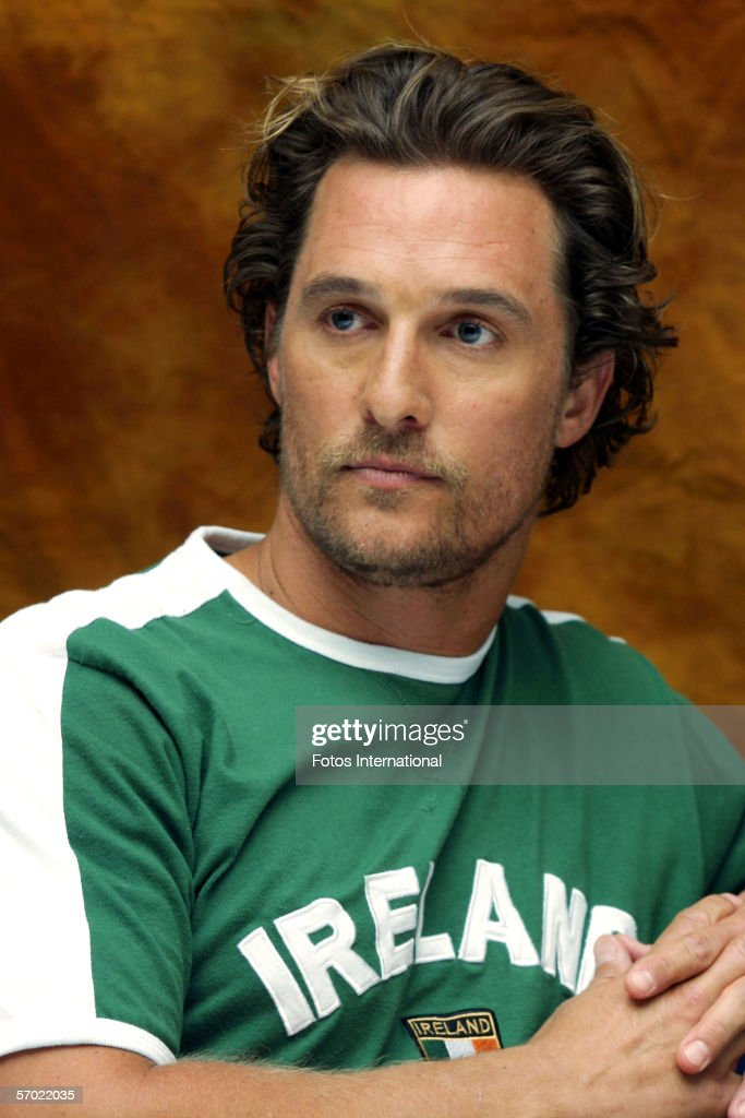 Actor Matthew McConaughey talks at the Essex Housel on February 10, 2006 in New York, New York.