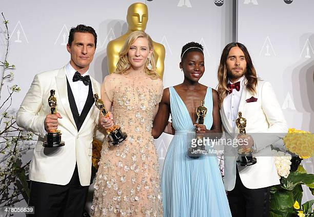Actor Matthew McConaughey winner of Best Performance by an Actor in a Leading Role Cate Blanchett winner of Best Performance by an Actress in a...