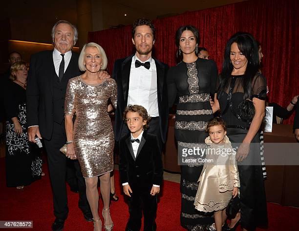 Actor Matthew McConaughey with CJ Carlig Kay McConaughey Levi Alves McConaughey Camila Alves Vida Alves McConaughey and Fatima Alves attend the 28th...