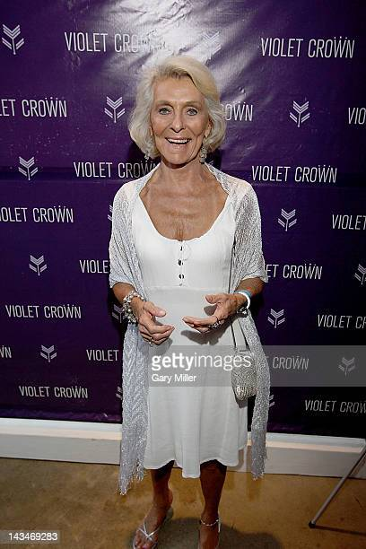 Actor Matthew McConaughey's mother Kay McConaughey on the red carpet before an Austin Film Society screening of Bernie at the Violet Crown Cinema on...