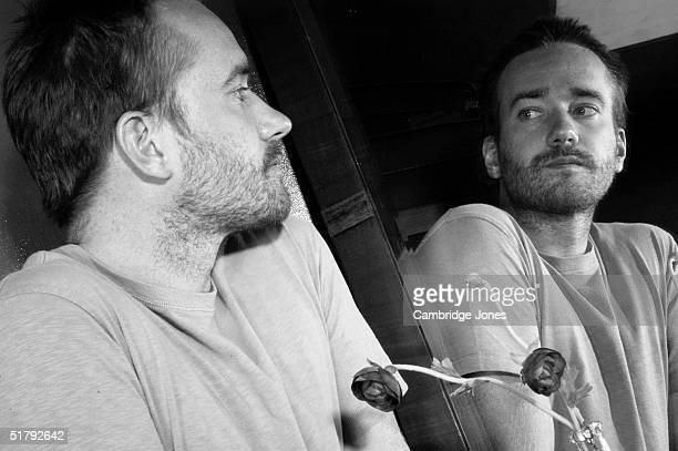 Actor Matthew McFadyen poses at a photoshoot in London on the 23rd of July 2003