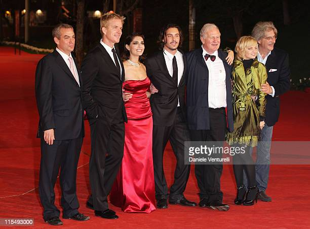 Actor Matthew Modine, actress Caterina Murino, actor John Huston with director John Irvin and actress Mena Suvari attend the 'The Garden Of Eden'...