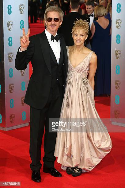 Actor Matthew Modine and Caridad Rivera attend the EE British Academy Film Awards 2014 at The Royal Opera House on February 16 2014 in London England