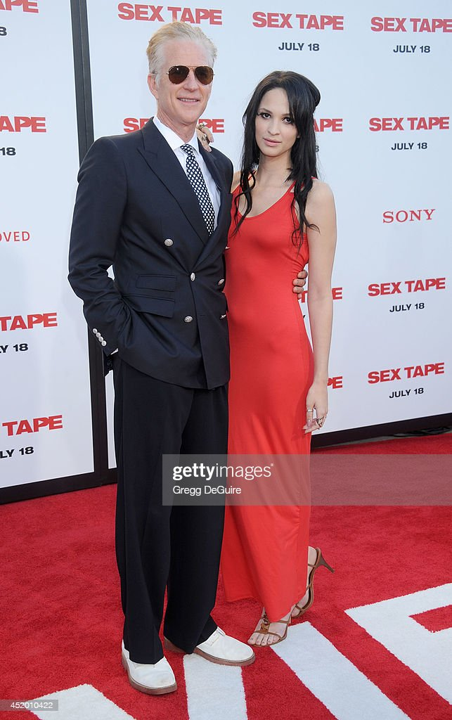 Actor Matthew Modine and daughter Ruby Wylder Rivera Modine arrive at the Los Angeles premiere of 'Sex Tape' at Regency Village Theatre on July 10, 2014 in Westwood, California.