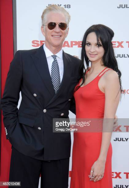 Actor Matthew Modine and daughter Ruby Wylder Rivera Modine arrive at the Los Angeles premiere of 'Sex Tape' at Regency Village Theatre on July 10...