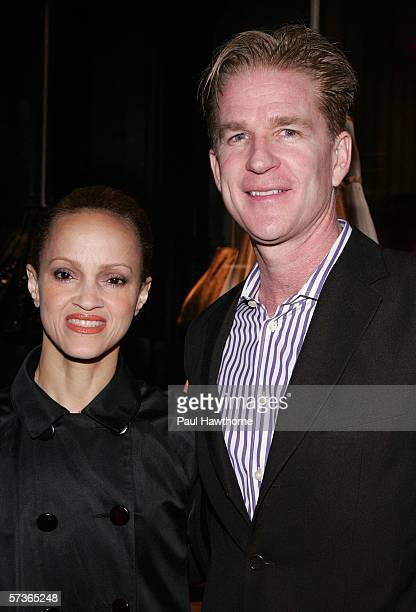 Actor Matthew Modine and his wife Caridad Rivera attend an exhibition opening to celebrate designer Miuccia Prada's opening of Waist Down Skirts by...
