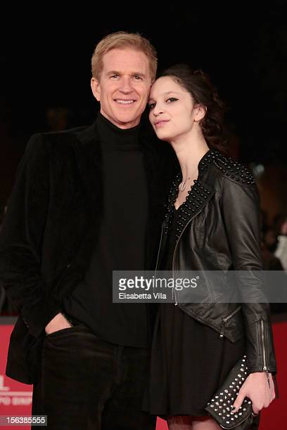 Actor Matthew Modine and Ruby Modine attend the 'Bullets To The Head' Premiere during the 7th Rome Film Festival at the Auditorium Parco Della Musica...