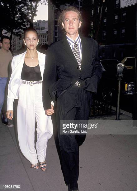 Actor Matthew Modine and wife Caridad Rivera attend 'A Bid of Love' Auction to Benefit God's Love We Deliver on June 23 1993 at Sotheby's Auction...