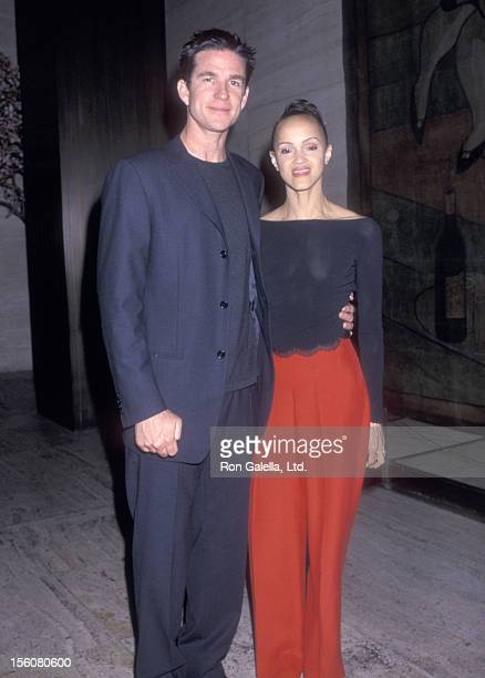 Actor Matthew Modine and wife Caridad Rivera attend a Party for Valentino on June 14 2000 at Four Seasons Restaurant in New YOrk City New York