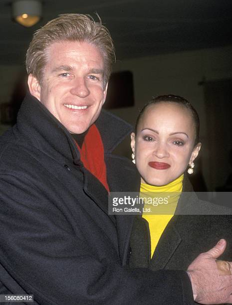 Actor Matthew Modine and wife Caridad Rivera attend Caged' Celebrity Reading to Benefit God's Love We Deliver and Tweed on February 19 2001 at Town...