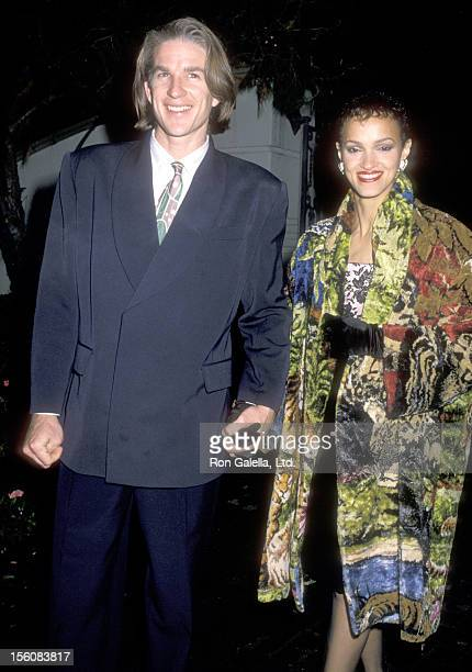 Actor Matthew Modine and wife Caridad Rivera attend Sandy Gallin's Holiday Party on December 18 1988 at the Home of Sandy Gallin in Beverly Hills...