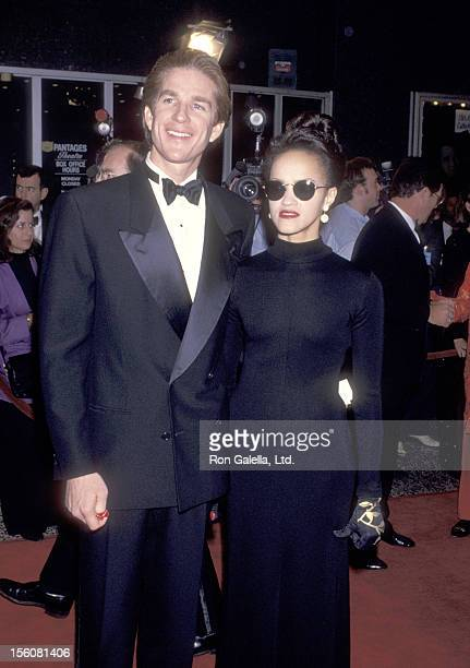 Actor Matthew Modine and wife Caridad Rivera attend the 15th Annual National CableACE Awards on January 16, 1994 at Pantages Theatre in Hollywood,...