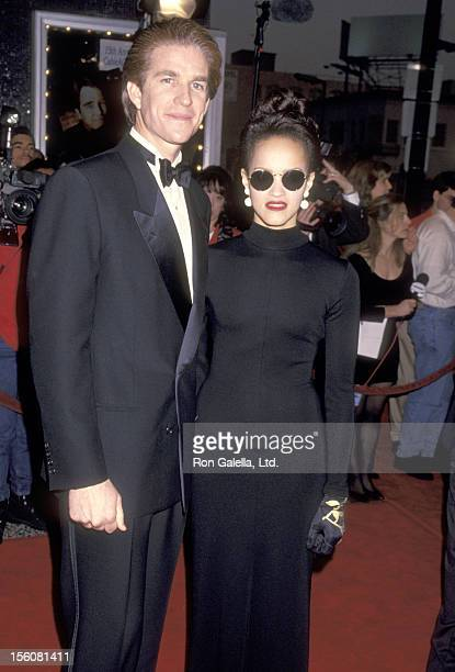 Actor Matthew Modine and wife Caridad Rivera attend the 15th Annual National CableACE Awards on January 16 1994 at Pantages Theatre in Hollywood...