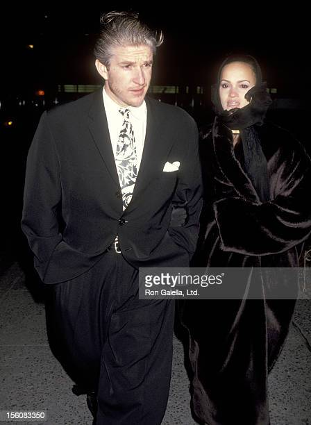 Actor Matthew Modine and wife Caridad Rivera attend the 25th Anniversary Celebration of the Phoenix House on March 11, 1992 at U.S. Customs House in...