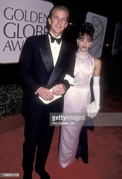 Actor Matthew Modine and wife Caridad Rivera attend the 51st Annual Golden Globe Awards on January 22 1994 at Beverly Hilton Hotel in Beverly Hills...