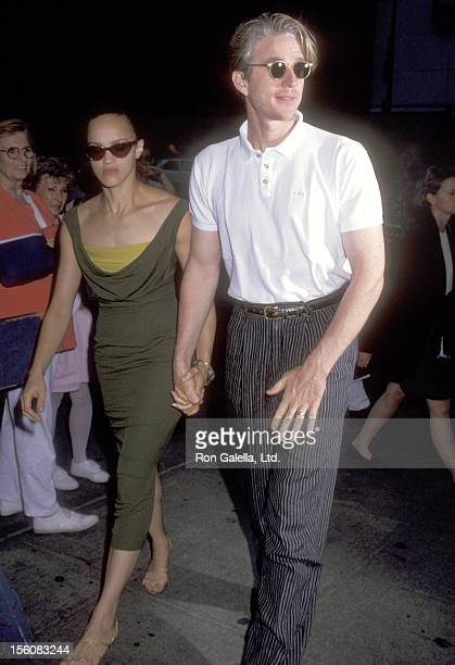 Actor Matthew Modine and wife Caridad Rivera attend the 'Afraid of the Dark' New York City Premiere on July 21 1992 at Cinema 3rd Avenue in New York...