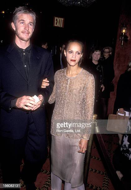 Actor Matthew Modine and wife Caridad Rivera attend 'The Age of Innocence' New York City Premiere on September 13, 1993 at Ziegfeld Theater in New...
