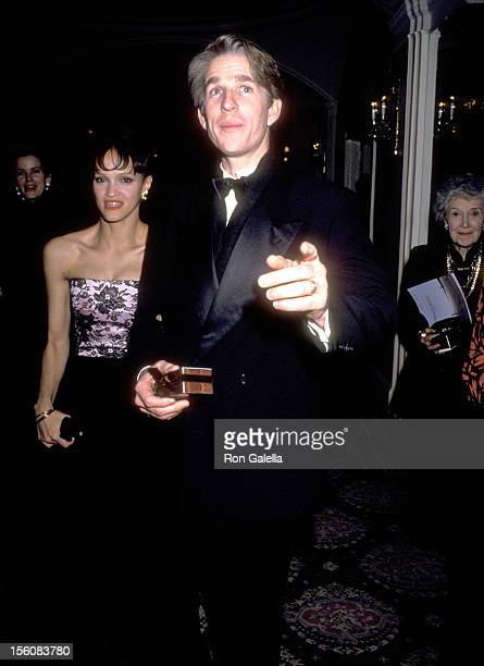 Actor Matthew Modine and wife Caridad Rivera attend the 'Awakenings' New York City Premiere Party on December 17 1990 at Pierre Hotel in New York...