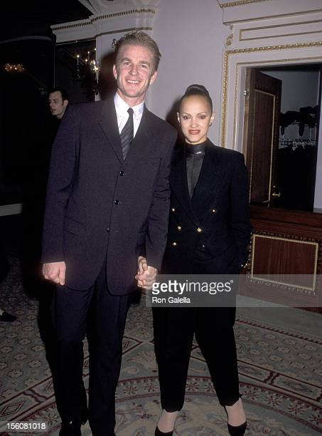 Actor Matthew Modine and wife Caridad Rivera attend the Creative Coalition's 1998 Spotlight Awards on November 30 1998 at Pierre Hotel in New York...