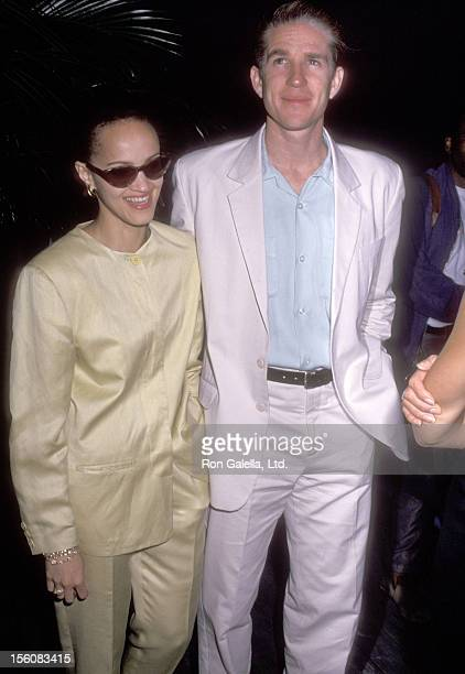 Actor Matthew Modine and wife Caridad Rivera attend the 'Don't Bungle the Jungle II' Benefit to Save the Tropical Rain Forests on May 18 1992 at...