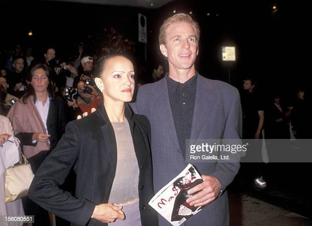 Actor Matthew Modine and wife Caridad Rivera attend the 'Double Jeopardy' New York City Premiere on September 23 1999 at Guild 50th Street Theater in...