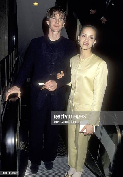 Actor Matthew Modine and wife Caridad Rivera attend the Fifth Annual GLAAD Media Awards on March 19 1994 at Century Plaza Hotel in Los Angeles...
