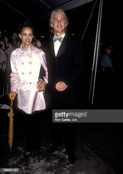 Actor Matthew Modine and wife Caridad Rivera attend the Grand Opening of Seventh on Sale on May 17 1995 at 26th Street Armory in New York City New...