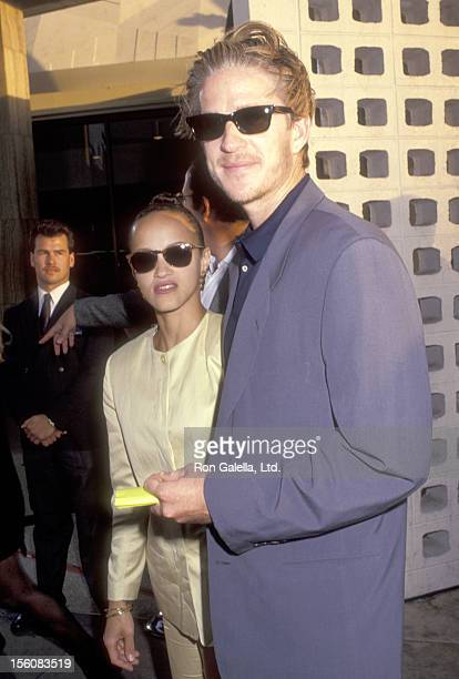 Actor Matthew Modine and wife Caridad Rivera attend the 'Madonna Truth or Dare' Hollywood Premiere on May 6 1991 at Pacific's Cinerama Dome in...