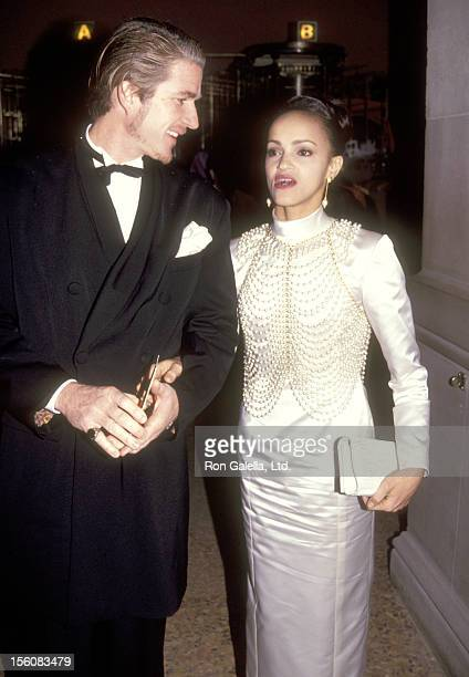 Actor Matthew Modine and wife Caridad Rivera attend the Metropolian Museum of Art's 'Hanging Gardens of Baylon' Costume Institute Gala Benefit on...