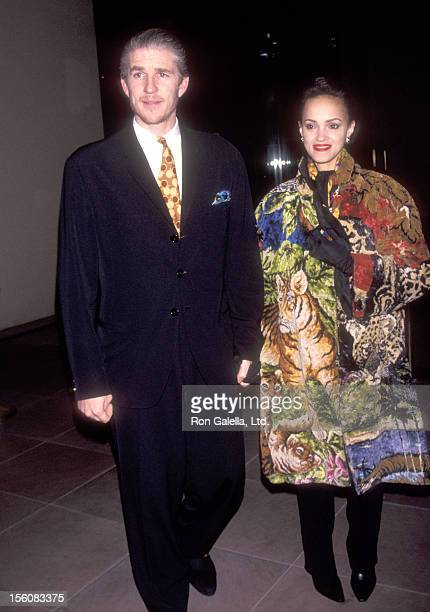 Actor Matthew Modine and wife Caridad Rivera attend the New York City Screening of the Documentary 'American Dream' on March 17 1992 at Lil Acheson...