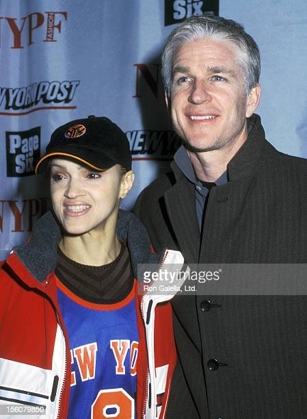 Actor Matthew Modine and wife Caridad Rivera attend The New York Post's First Fashion Supplement Party on February 7 2002 at Mercer Kitchen in New...