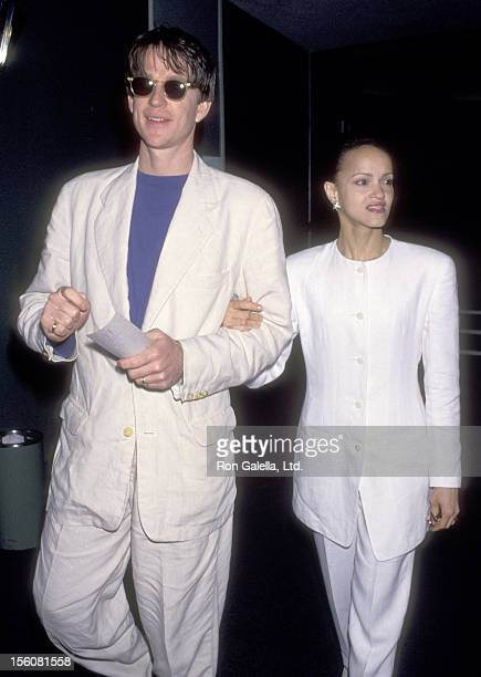 Actor Matthew Modine and wife Caridad Rivera attend the Ninth Annual IFP/West Independent Spirit Awards on March 19 1994 at Hollywood Palladium in...