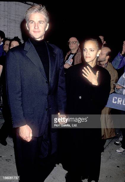 Actor Matthew Modine and wife Caridad Rivera attend the Opening Night of the 31st Annual New York Film Festival on October 1 1993 at Avery Fisher...