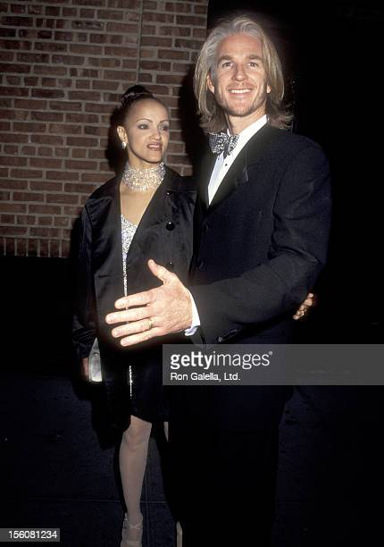 Actor Matthew Modine and wife Caridad Rivera attend the 'Patti LuPone on Broadway' Opening Night Performance on October 12 1995 at Walter Kerr...