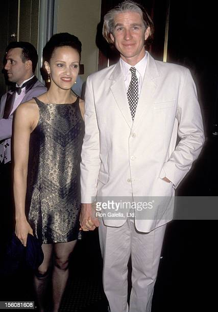 Actor Matthew Modine and wife Caridad Rivera attend the Post Party for Billy Stritch's Concert Performance on May 11 1993 at Rainbow and Stars in New...
