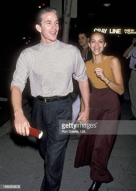 Actor Matthew Modine and wife Caridad Rivera attend the 'Sea of Love' New York City Premiere on September 12 1989 at Beekman Theater in New York City...