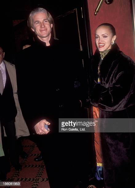 Actor Matthew Modine and wife Caridad Rivera the 'Shining Through' New York City Premiere on January 27, 1992 at Ziegfeld Theater in New York City,...