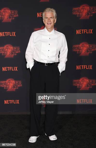 Actor Matthew Modine arrives at the Premiere Of Netflix's 'Stranger Things' Season 2 at Regency Westwood Village Theatre on October 26 2017 in Los...
