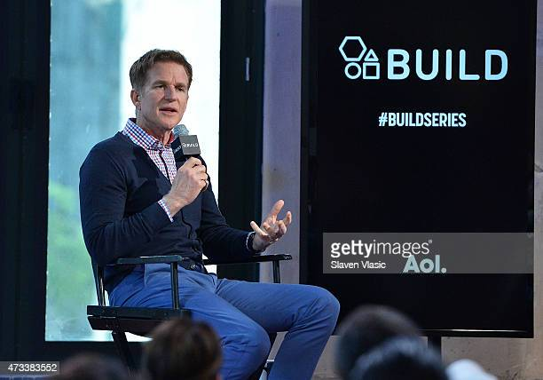 Actor Matthew Modine attends AOL's BUILD Speaker Series to talk about his new TNT series Proof at AOL Studios In New York on May 14 2015 in New York...