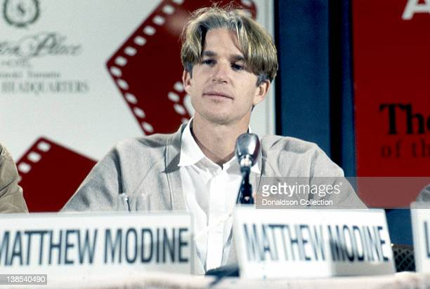 Actor Matthew Modine attends the premiere of his movie 'Wind' in September 1992 in Los Angeles California
