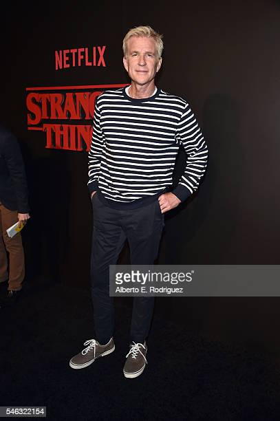 Actor Matthew Modine attends the Premiere of Netflix's 'Stranger Things' at Mack Sennett Studios on July 11 2016 in Los Angeles California