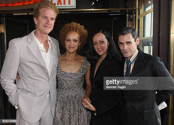 Actor Matthew Modine Caridad Rivera designer Isabel Toledo and actor Raul Toledo attend the 3rd Annual Artistry of Fashion Award Benefit Luncheon at...
