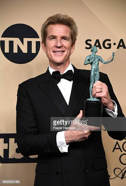 Actor Matthew Modine corecipient of the Outstanding Performance by an Ensemble in a Drama Series award for 'Stranger Things' poses in the press room...